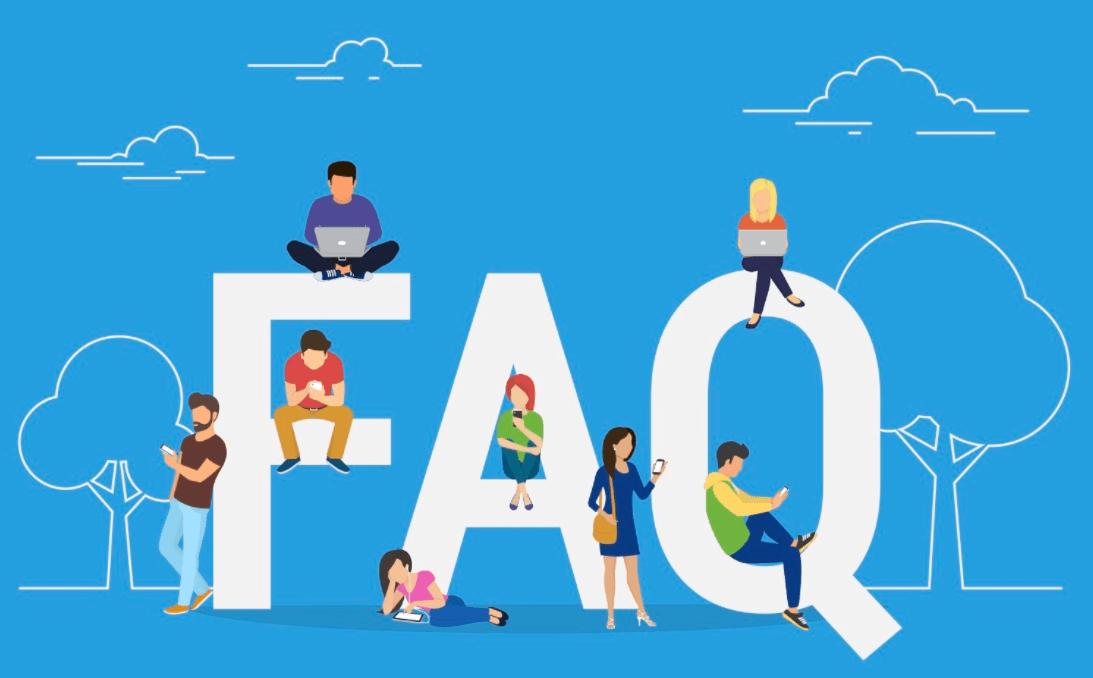 People sitting on Alphabet letters FAQ